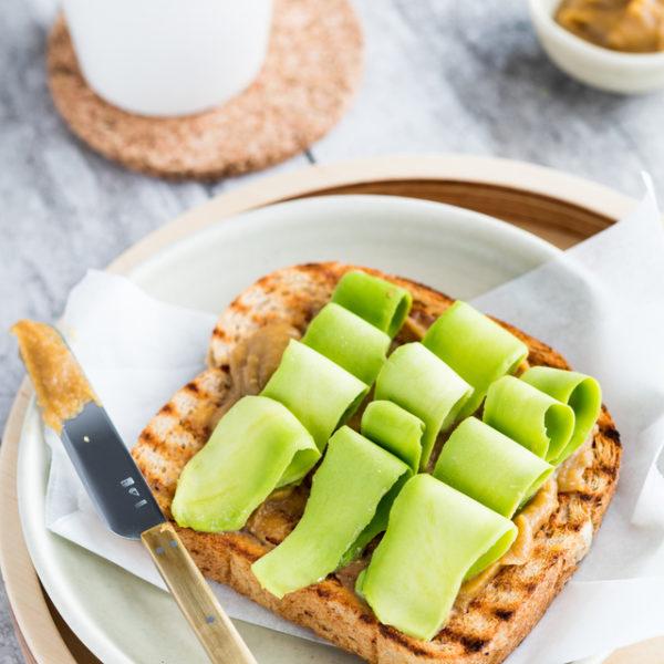 Kaya Toast with avocado slices