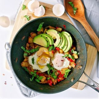 Avocado Hash with Eggs